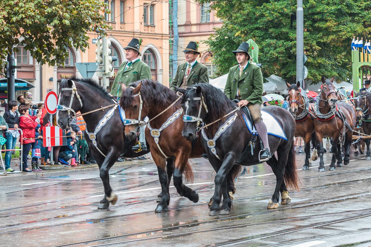 Custom Parade at Oktoberfest 2016 in Munich, Bavaria